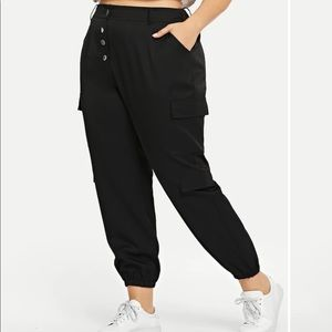 black army style joggers